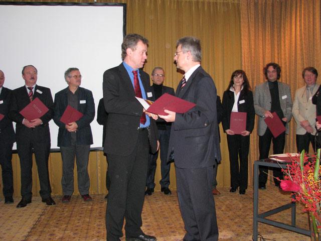 Bei der Preisverleihung des BMVBS im Dezember 2008 in Berlin.